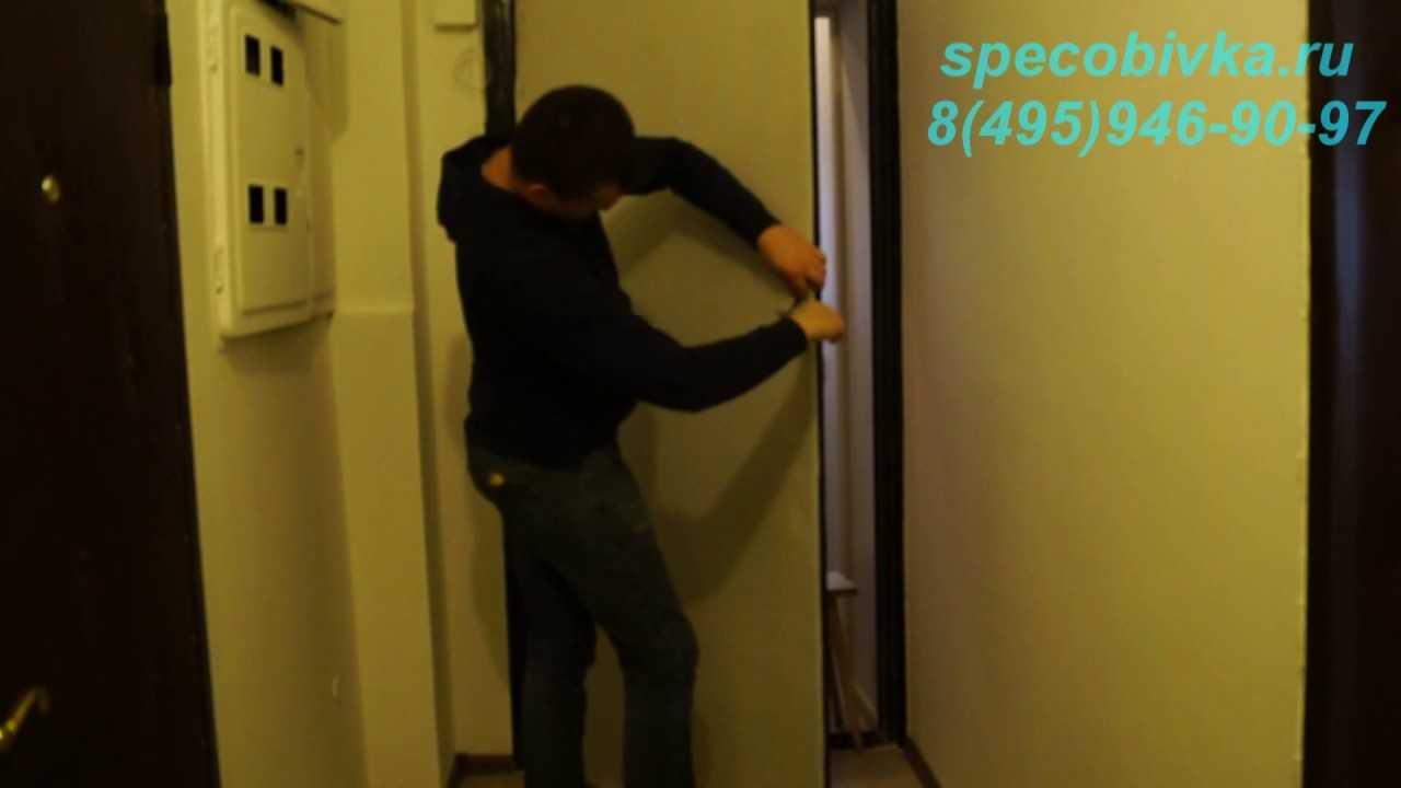 Обивка входных дверей дермантином: подробная инструкция