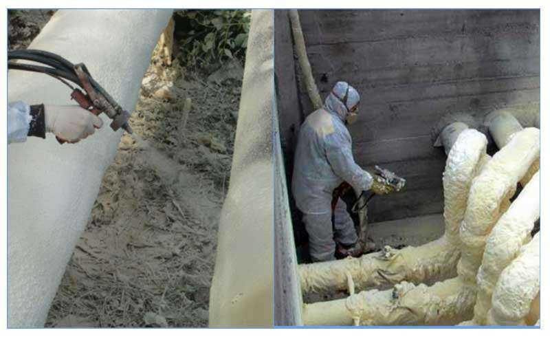 Технология утепления водопроводных труб на зиму теплоизоляция водопровода в земле на улице в подвале Как и чем лучше утеплить трубы водоснабжения греющий кабель вата скорлупа ППУ