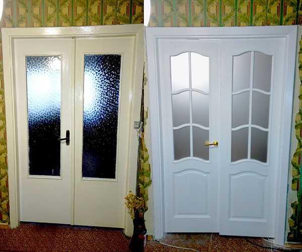 Способы обновления межкомнатных деревянных дверей своими руками