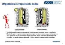 Входная дверь левая или правая как определить