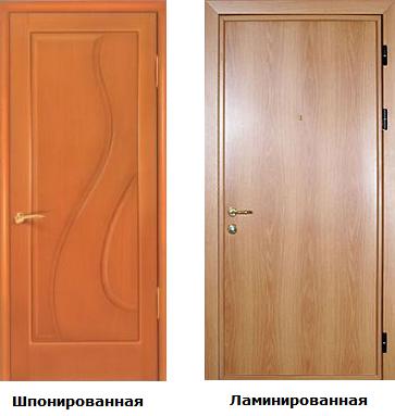 Что представляет собой стандартная ламинированная дверь?