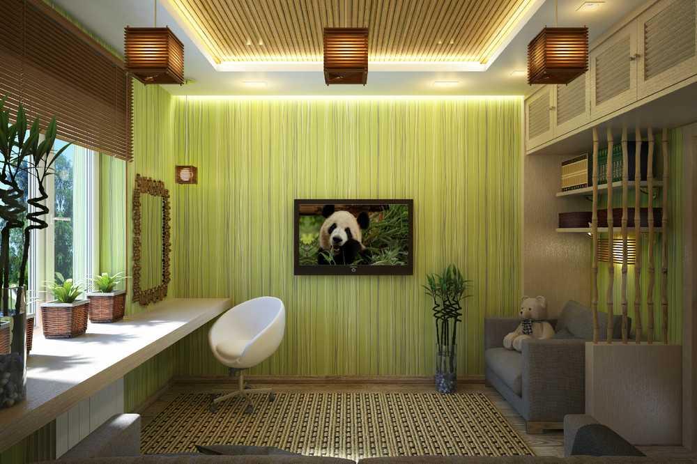 Бамбуковые обои для стен Положительные качества и особенности их изготовления Разнообразие материалов сочетание с другими декоративными элементами