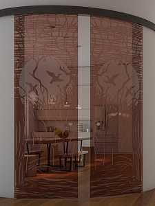 Обустройство стеклянных дверей в душевой