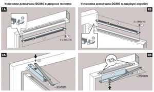 Регулирование доводчика двери