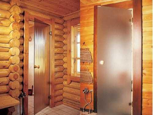 Двери для сауны: особенность конструкции (20 фото)