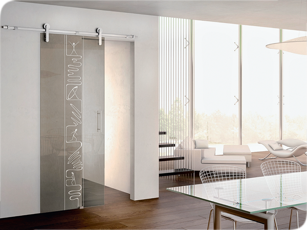 Стеклянные двери межкомнатные в интерьере: современные идеи