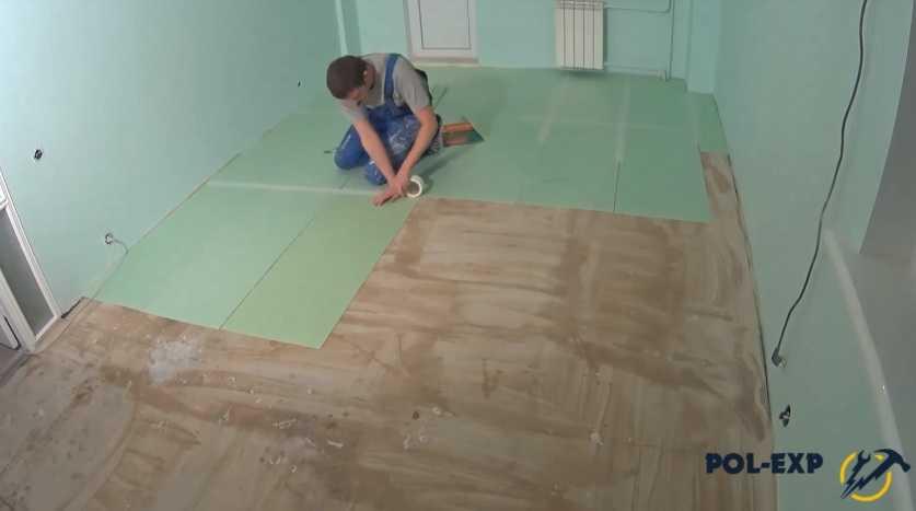 Как выровнять пол плиточным клеем под ламинат и иные покрытия