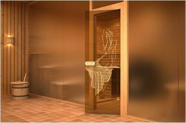 Стеклянные двери для бани — плюсы и минусы