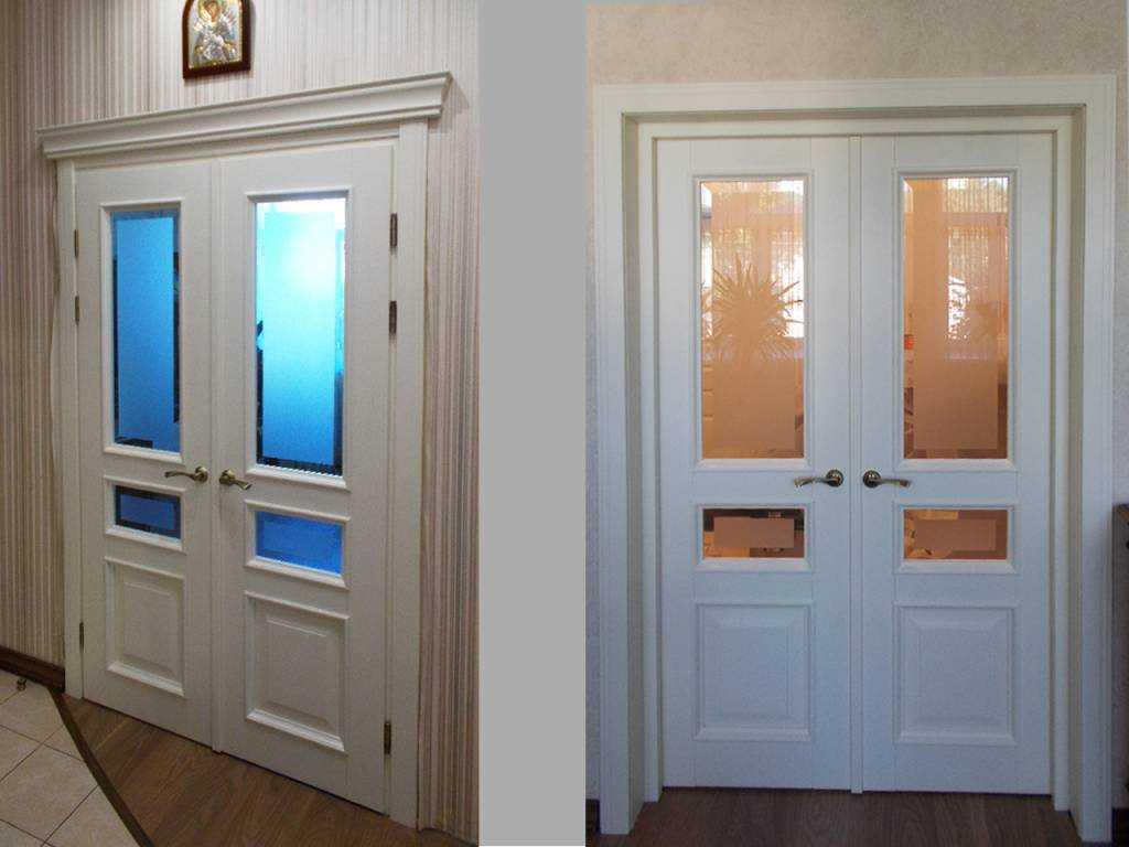 Межкомнатные двери в интерьере — виды, материалы, цвета