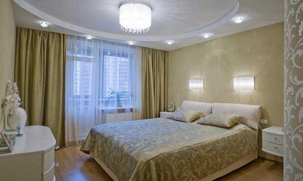 Потолок в спальне из гипсокартона, фото вариантов — все о гипсокартоне