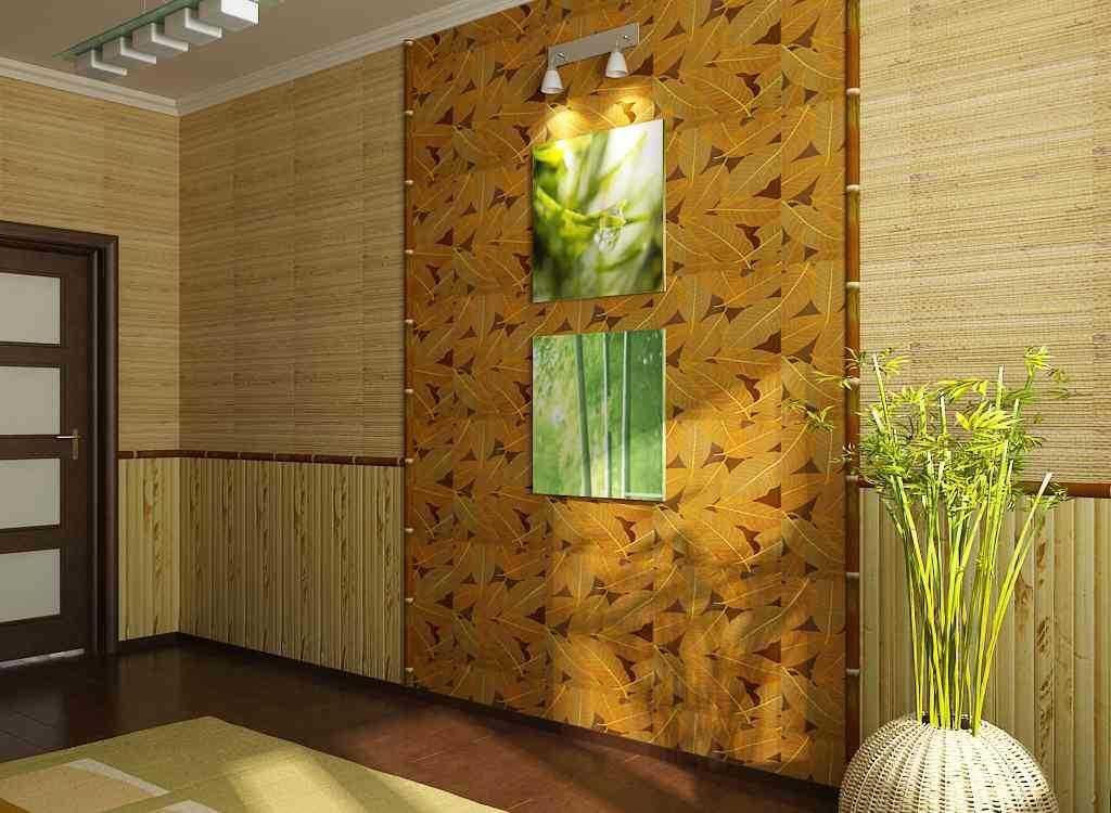 Обои из бамбука в интерьере как клеить и как ухаживать