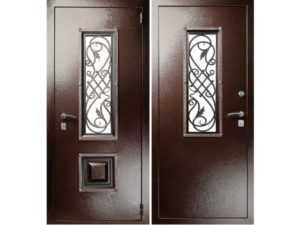 Входная дверь со стеклом: 55 вариантов для частного дома