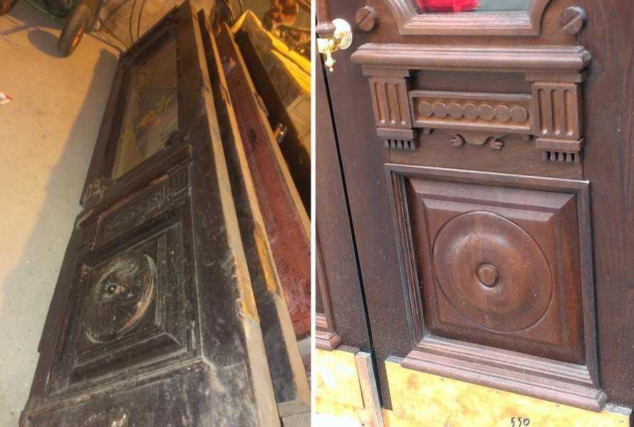 Особенности установки входной двери в проем деревянного дома