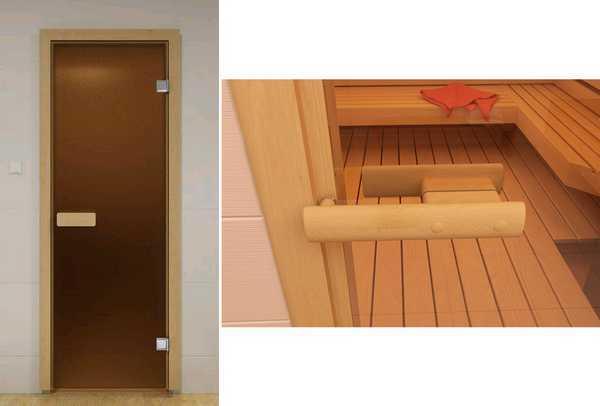 Монтаж стеклянной двери в баню
