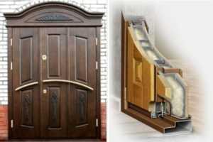 Особенности установки металлических дверей в домах из дерева