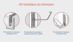 Регулировка входной пластиковой двери