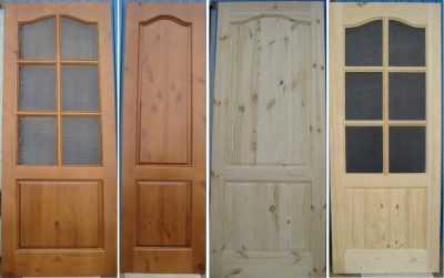 Достоинства дверей из сосны