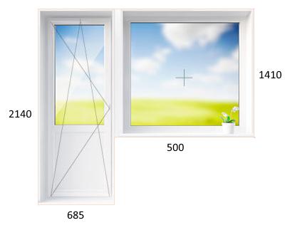 Размеры, материалы изготовления и виды балконных дверей с окном