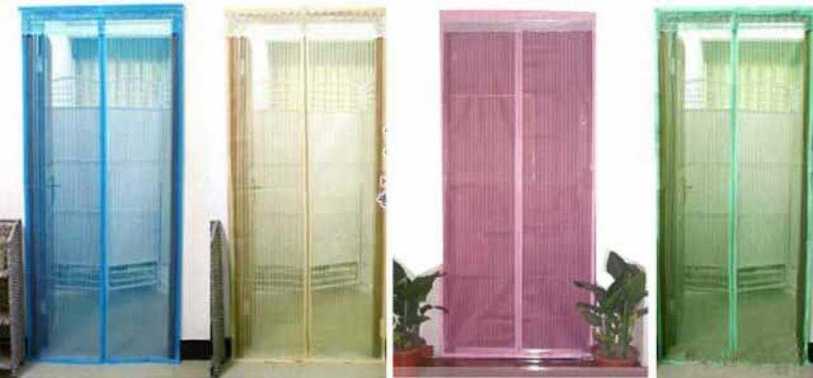 Москитная сетка на дверь: разновидности и особенности установки