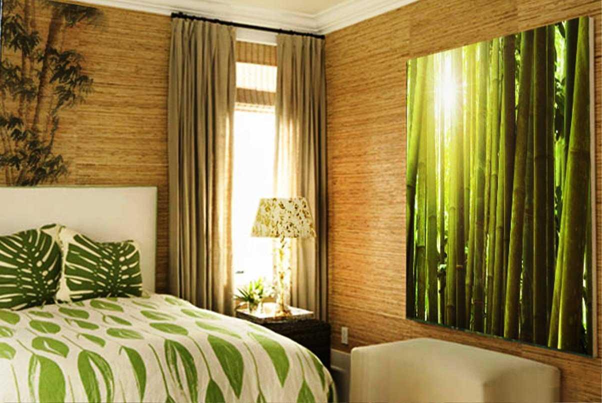 Бамбуковые обои: как выбрать и как клеить