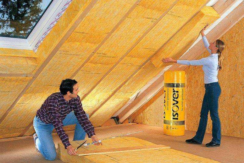 Утепление мансарды изнутри, если крыша уже покрыта, для зимнего проживания: пенопластом, минватой