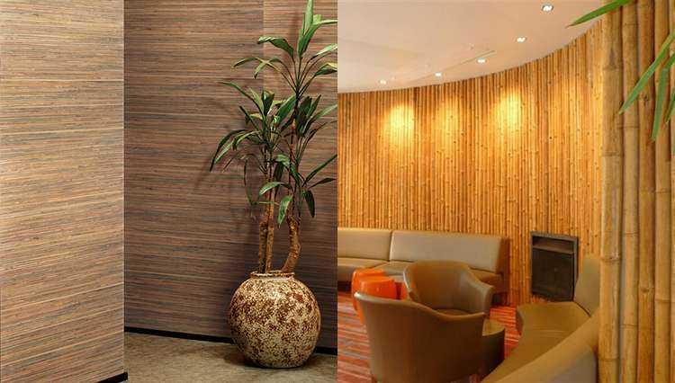 Особенности, плюсы и минусы бамбуковых обоев для стен
