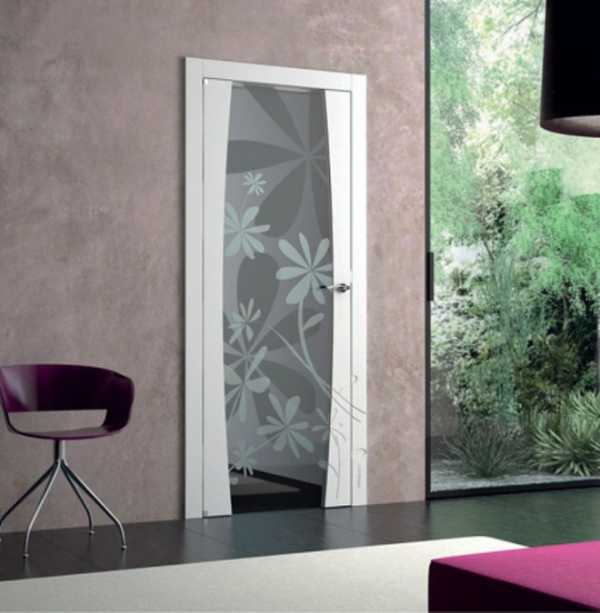 Межкомнатные двери со стеклянными вставками фото
