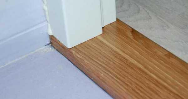 Для чего нужен порог у входной двери и как сделать его своими руками?