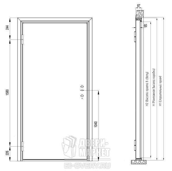 Входная дверь — размеры, характеристики и особенности подбора