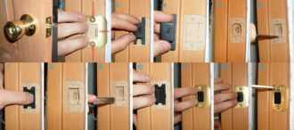 Установка дверных ручек разных видов: пошаговая инструкция