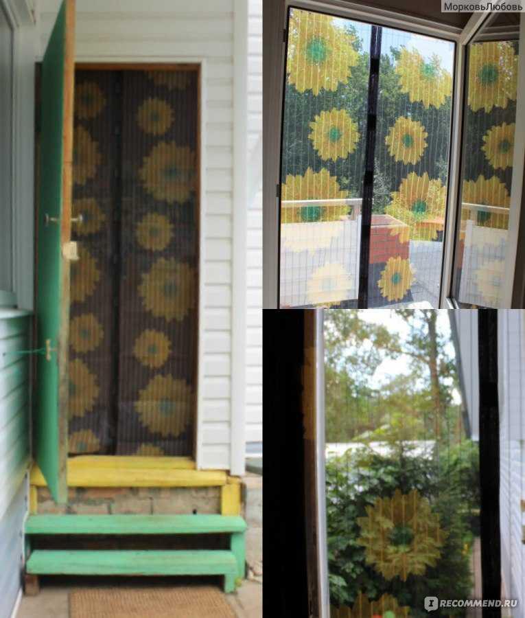 Москитная сетка на дверь: виды и установка