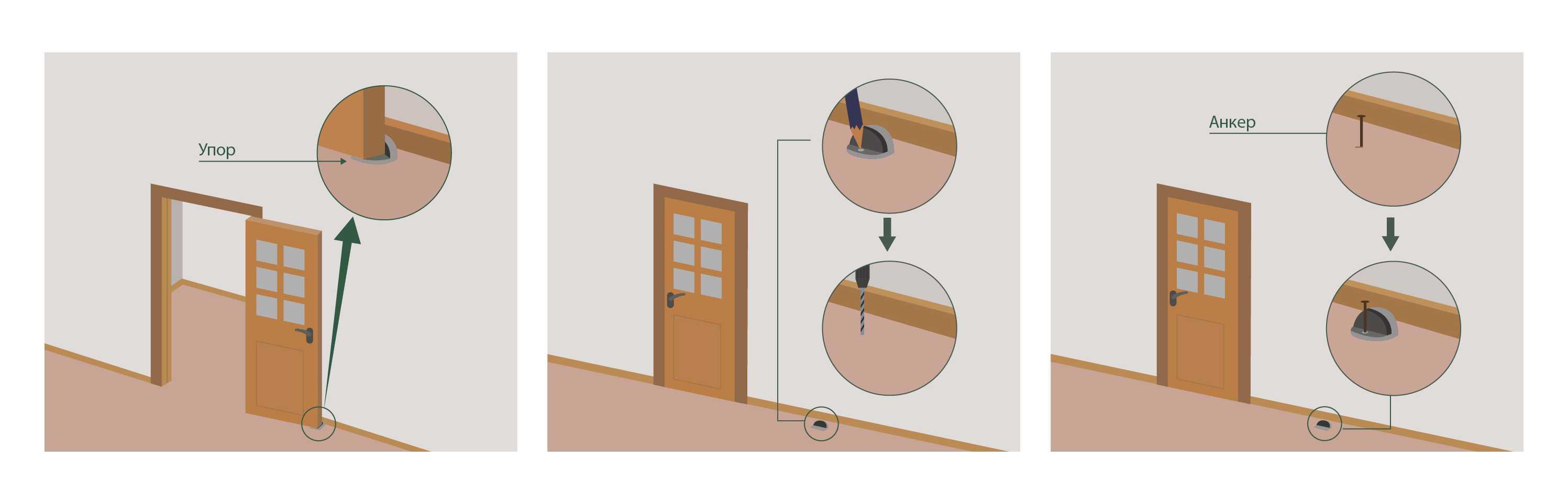 Материалы изготовления и форма порогов для межкомнатной двери
