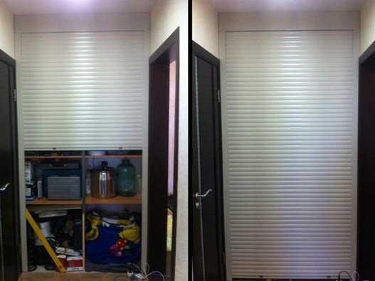 Вместо двери рольставни, это отличный вход в кладовку