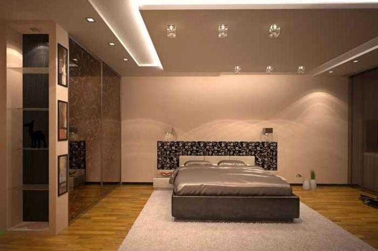 Дизайна потолка в спальне: советы по оформлению, 75 фото новинок