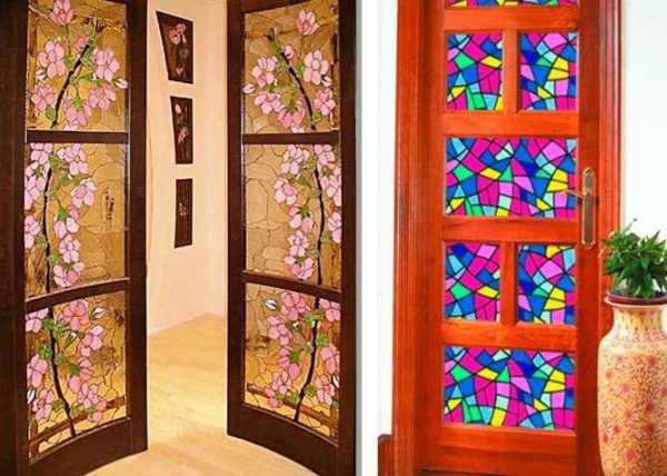 Необычный дизайн декорированных межкомнатных дверей. как сделать своими руками?