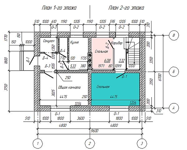 Условные обозначения, применяемые в архитектурно-строительных чертежах