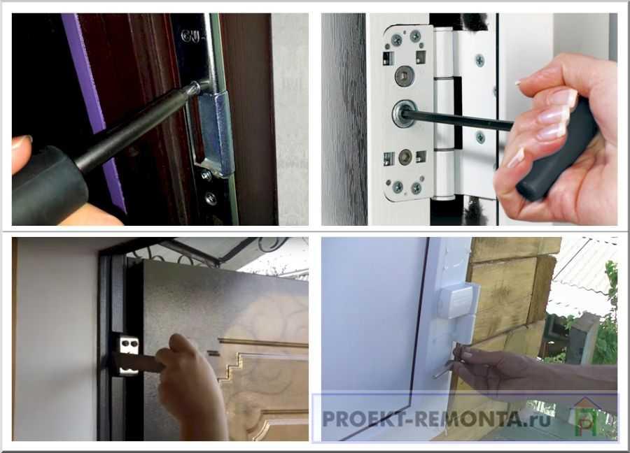 Способы регулировки межкомнатных дверей