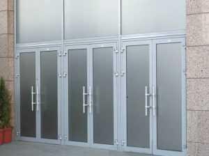 Особенность алюминиевых дверей