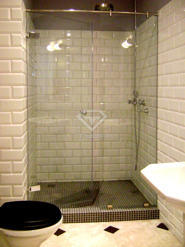 Раздвижные стеклянные двери для душа: 35 фото винтерьере ванной