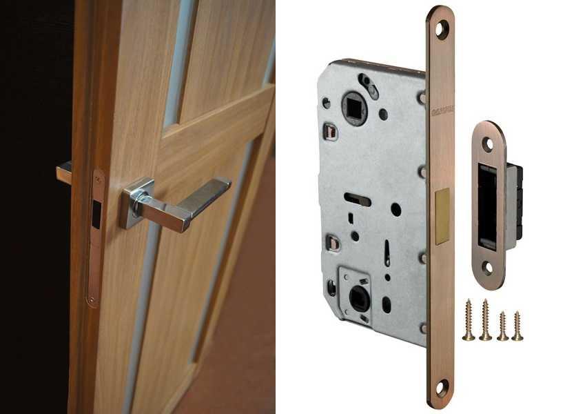 Порядок установки защелки в межкомнатную дверь своими руками
