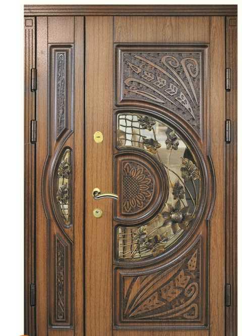 Оформление деревянных дверей под старину