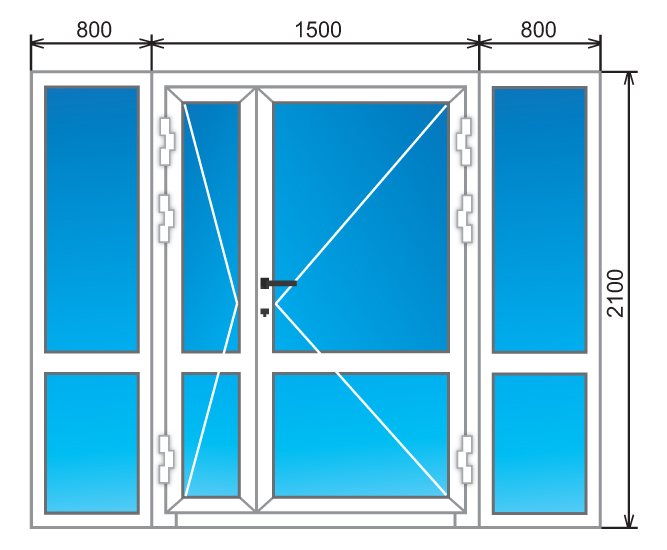 Стандартные размеры балконных дверей