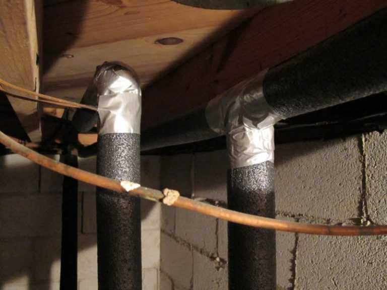 Утепление труб водоснабжения, утепление труб водоснабжения в частном доме