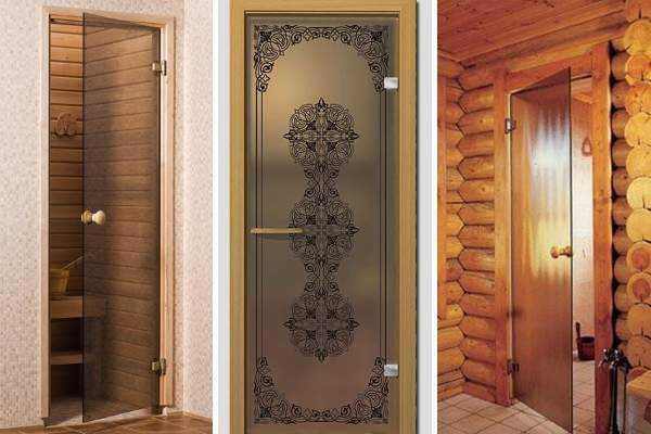 Размеры и секреты монтажа стеклянной двери в сауне