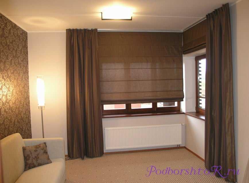 Разновидности шторы для окна с балконной дверью