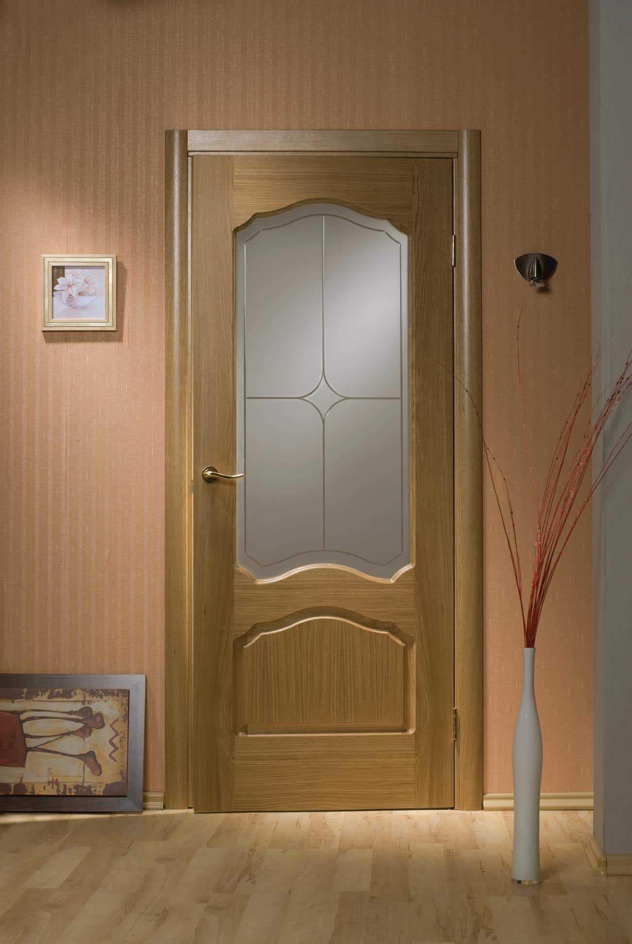 Двери межкомнатные шпонированные дуб