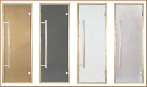Стеклянные двери для сауны и бани