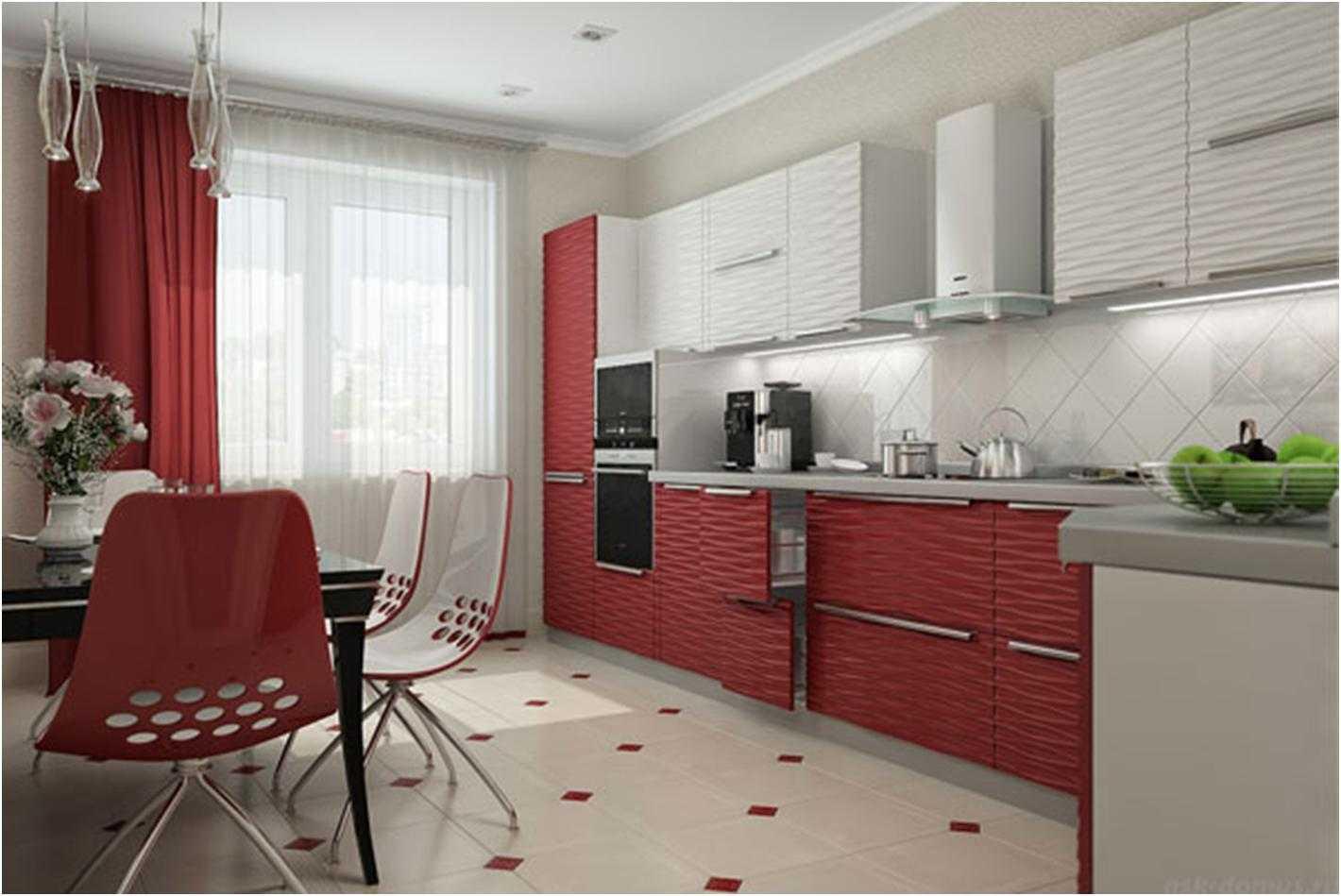 Дизайн штор для кухни с балконной дверью — фото