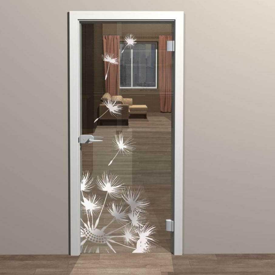 Межкомнатные двери со стеклом: фото, виды, дизайн и рисунки, цвета, формы вставок
