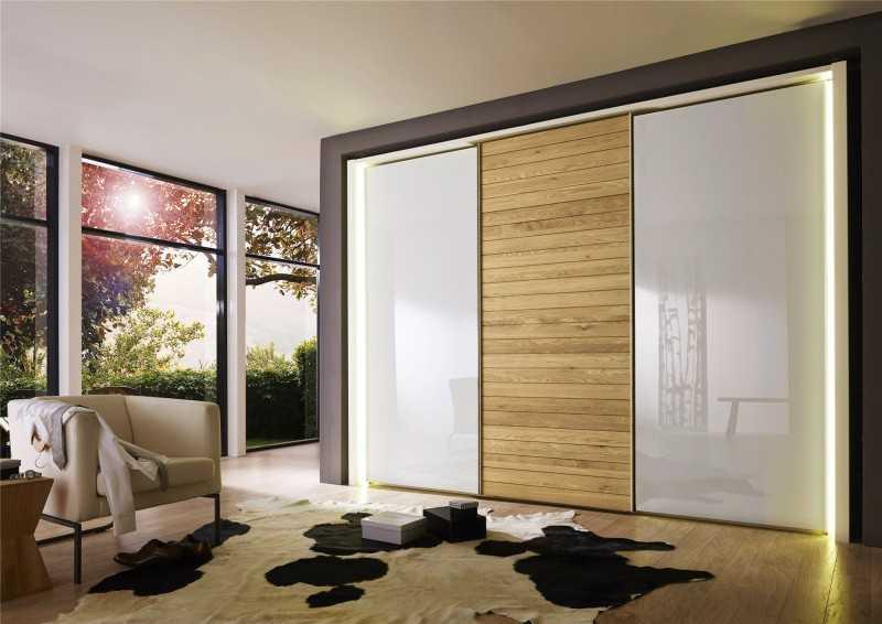 Декор раздвижных дверей для гардеробной
